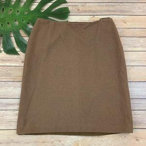 Jil Sander cashmere & silk tan pencil skirt